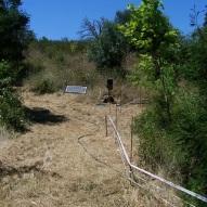 20110717-18 waldgarten - pathway solar panel and water hose